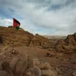 Panorama view of the Monastery at Petra - Jordan