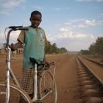 Local boy at the railway