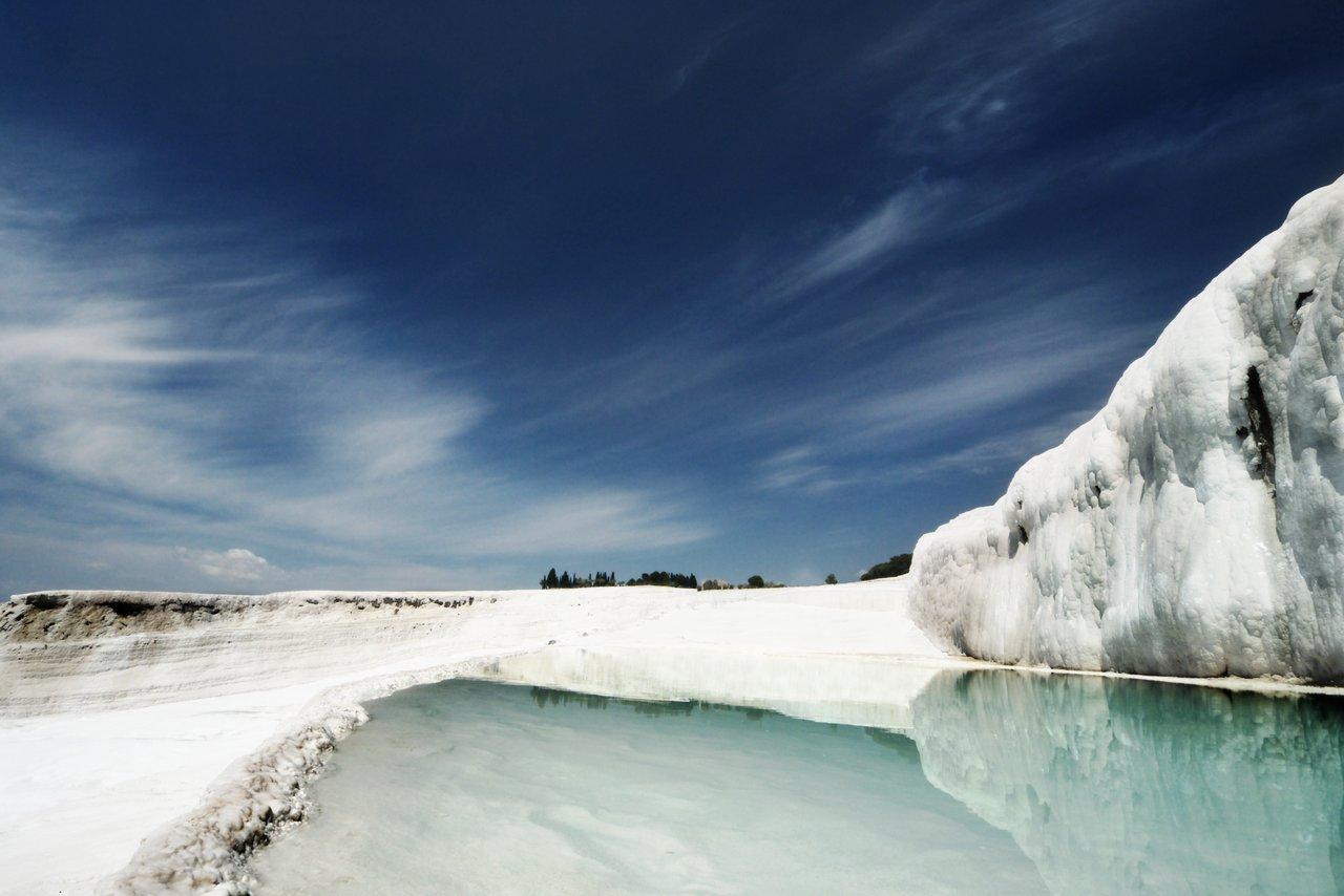 Pamukkale terraces of carbonate minerals - Turkey